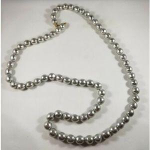 Dauplaise Gray Bead Long Necklace